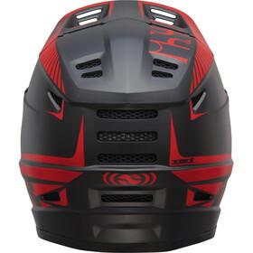 IXS Xact Fullface-kypärä, black/fluo red